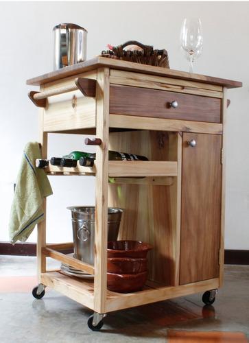 mesa isla portatil cocinas bar parrilleras en madera bs