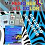 Impresion Carta Full Color Volantes, Afiches, Trabajos
