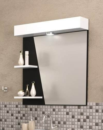 Mueble formica blanco 20170901183159 for Lampara espejo bano