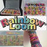 Rainbow Loom + 2400 Ligas + Caja + Agujas + Clips
