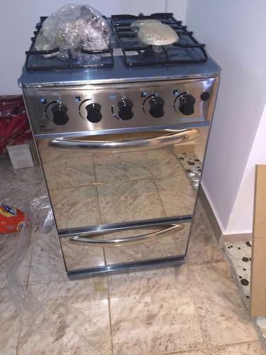 Cocina con 4 hornillas acero inoxidable bs vlkii for Cocina 02 hornillas
