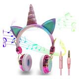 Audifono Auricular Unicornio Brillos Niña Jovenes Importados