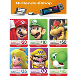Tarjeta Regalo Nintendo Eshop 3ds Wii U Switch Cod Digital