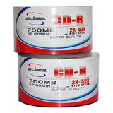 Cd Virgen S-data Printeable 52x 80min 700mb Paq 100 Unidades