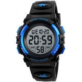 Reloj Niño Skmei Digital Negro Azul Disponible