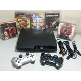 Playstation 3 Slim 160gb 2 Controles + 7 Juegos