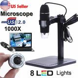 Cámara Digital Microscopio Para Electronica Usb 1000x + Base