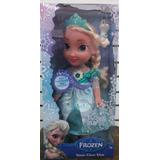 Muñeca Frozen   Canta  Y Prende Luces Vestido Mágico Mide 34