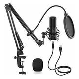 Microfono Condensador Profesional Brazo Entrada Usb Tienda