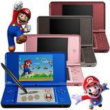 Nintendo Dsi Xl, Con 200 Juegos, Cargador, Lapiz, Carcasa !!
