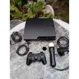 Ps3 Playstation 3 Consola Sin Detalles Mas  Dos Controles