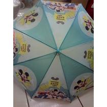Paraguas Infantil De Mickey Mouse Solo En Azul