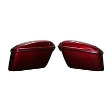 Maletas Laterales De Fibra De Vidrio En Negro Champang Rojo