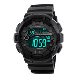 Reloj Grande Digital Pantalla Negra Skmei Hora Doble