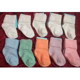 Medias De Recien Nacido Unicolores Gruesas De Muñequit Blanc