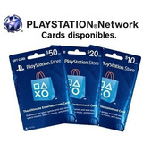 Tarjeta  Playstation Store Psn Ps4 Ps3 Codigo Digital Acd