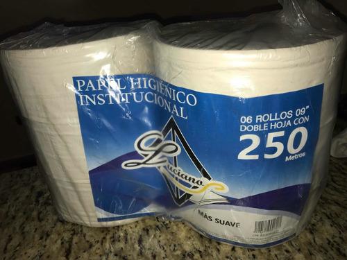 Papel Higiénico Luciano 9  250mt (6 Rollos) Blanco