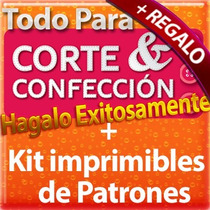 Kit De Patrones Moldes Imprimible De Ropa Todo Tipo + Libros