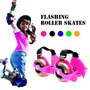 Patines Ajustables Flashing Roller Con 2 Ruedas Con Luces!!!