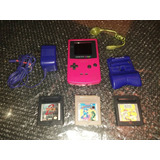 Game Boy Color + Lampara + Power Pack + 3 Juegos