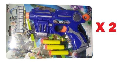 Pack 2 Pistolas Lanza Dardos Fortnite Avengers Paw Patrol