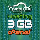 Web Hosting Y Dominio (.ve), Cpanel - 3gb En Disco X 1 Mes