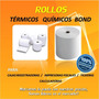 Rollos Papel Bond 75mm X 65mm Para Impresoras Fiscales
