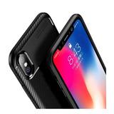 Forro Antigolpe Tpu Fibra Carbono iPhone 7 Plus Xs Max Xr