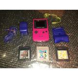 Game Boy Color + Lampara + Power Pack + 3 Juegos