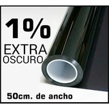 Papel Ahumado 5metros X 25mil Y Bobina  Negro Oscuro 1%