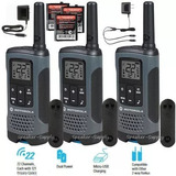 Radio Motorola Paquete De 3 Unidades Hasta 32km T200tp