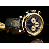 Reloj Invicta Mens Vintage Collection Gold 18kl Dial Blue