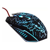 Mouse Gamer Tinji Tj-11 Optico 1600 Dpi Usb Led 6 Botones