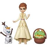 Muñeca Disney Frozen 2 Anna & Olaf Y Accesorios Hasbro Orig