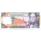 Billete De 50 Bolívares Junio 5 De 1995 Serial S8   Ef/ Ef+