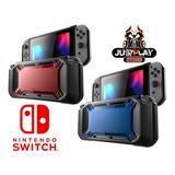 Estuche Potector Nintendo Switch Silicon Duro Rojo/azul