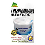 Dvd Virgen Nano 4.7gb Torre 50pcs Mayor Y Detal