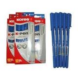 Bolígrafos Kores Negro Y Azul  12 Unidades