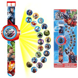 Reloj Proyector Spiderman Vengadores Batman Ben 10 Car Niños