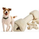 Juguete Hueso De Carnaza Limpieza Bucal #5 Perros 2 Unidades