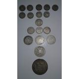 Colección Monedas De Plata Bs. 0,25 / 0,50 / 1 / 2 / 5