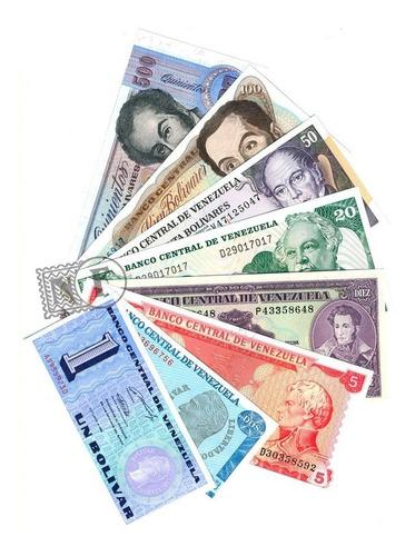Set De 8 Diferentes Billetes De Venezuela  Ef / Sin Circular