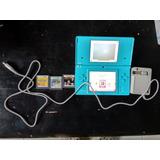 Nintendo Dsi Con Cargador Y 3 Juegos Originales