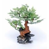 Penn Plax Adorno Resina Bonsai Verde , 20 Cms
