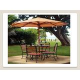 Mesas Con Sombrillas/terrazas/ Muebles Para Jardín/ Parques
