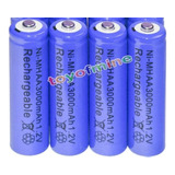 4 Pilas Aa Baterias Recargables 3000mah Ni-mh Doble A