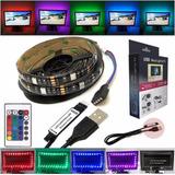 Tira Led Rgb 5050 Usb 5v Pega 3m Decora Tv Y Otros C/control