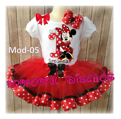 Conjuntos Tutu Vestidos Minnie Mouse Falda Tutu Minnie Mouse