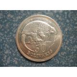 Moneda De Plata Conmemorativa 50 Bs. Cachicamo 1975