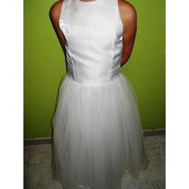 Vestido Para Primera Comunión O Damita De Cortejo Con Tul.